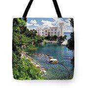 Miramare Castle Beach Tote Bag