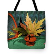 Mirror And Leaves Tote Bag