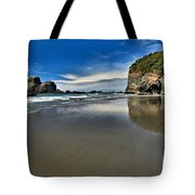 Mirror In The Sand Tote Bag