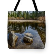 Mirror Lake Threesome Yosemite Tote Bag