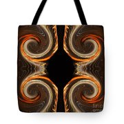 Mirrored Abstract Tote Bag