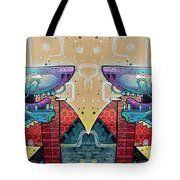 Mirrored Aztec Dog Tote Bag