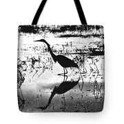 Mirrored Egret  Tote Bag