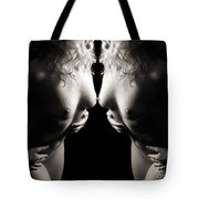Mirrored Nude Beauty Tote Bag
