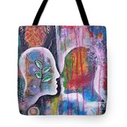 Mirrored Worlds Tote Bag