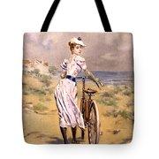 Miss Bicycle 1894 Tote Bag