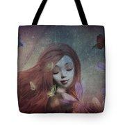 Miss Little Crocus Tote Bag