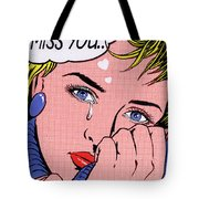 Miss You Tote Bag by MGL Meiklejohn Graphics Licensing