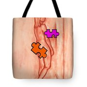 Missing Piece 5 Tote Bag by Patrick J Murphy