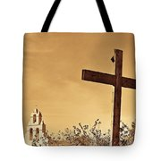 Mission In Sepia Tote Bag