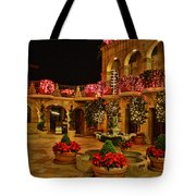 Mission Inn Christmas Chapel Courtyard Tote Bag