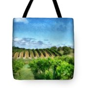 Mission Peninsula Vineyard Ll Tote Bag by Michelle Calkins