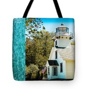 Mission Point Light House Michigan Tote Bag