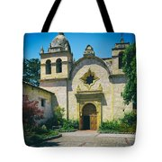 Mission San Carlos - Carmel California Tote Bag