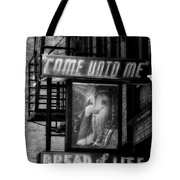 Mission Statement In Black And White Tote Bag