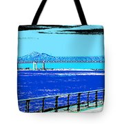 Mississippi River Bridge Poster Tote Bag