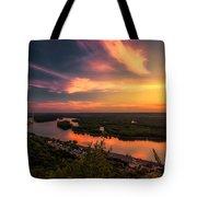 Mississippi River Evening Tote Bag