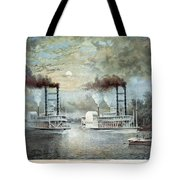 Mississippi River Race, C1859 Tote Bag