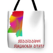 Mississippi State Map Collection 2 Tote Bag