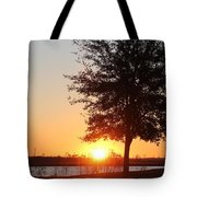 Mississippi Sunset 3 Tote Bag