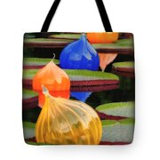 Missouri Botanical Garden Six Glass Spheres And Lilly Pads Img 5490 Tote Bag