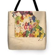 Missouri Map Vintage Watercolor Tote Bag