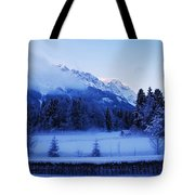 Mist Over Alps Tote Bag