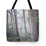 Mist Through The Trees Tote Bag
