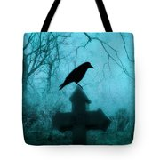 Misted Blue Tote Bag