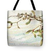 Mistletoe In The Snow Tote Bag