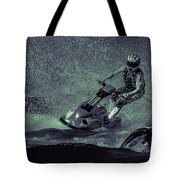 Scary Split-second At Sixty Mph Tote Bag