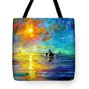 Misty Calm - Palette Knife Oil Painting On Canvas By Leonid Afremov Tote Bag