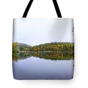 Misty Day Reflection Tote Bag