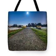 Misty Evening Walk Tote Bag