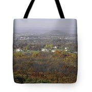 Misty Fall Pano Of The Shenandoah Valley Tote Bag