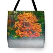 Misty Fall Tree Tote Bag