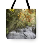Misty Falls At Coker Creek Tote Bag