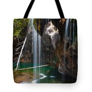 Misty Falls At Hanging Lake Tote Bag
