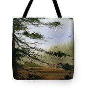 Misty Forest Bay Tote Bag