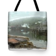 Misty Harbor Tote Bag
