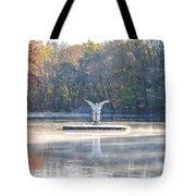 Misty Lake Angel Tote Bag