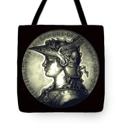 Misty Midnight Black Marianne Tote Bag