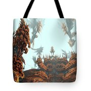 Misty Morn On Planet X Tote Bag