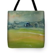 Misty Morning, 1981 Wc On Paper Tote Bag