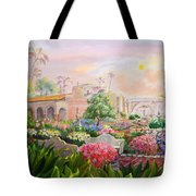 Misty Morning At Mission San Juan Capistrano  Tote Bag by Jan Mecklenburg