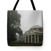 Misty Morning At Monticello Tote Bag
