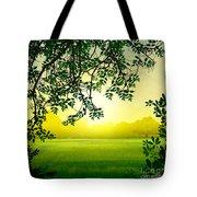 Misty Morning Tote Bag by Bedros Awak