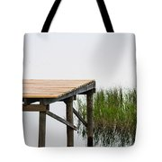 Misty Morning By The Dock Tote Bag