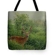 Misty Morning Deer Tote Bag