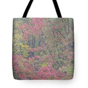 Misty Morning Foliage Tote Bag